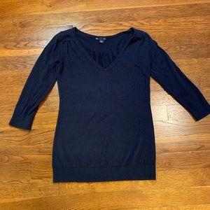 Gap - Navy 3/4 Sleeve Sweater Top